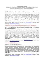Hallgatói kutatási témák A meghirdetett témák önálló laboratórium ...