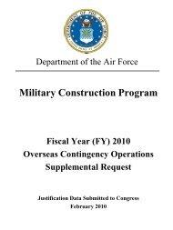 Military Construction Program - Air Force Financial Management ...