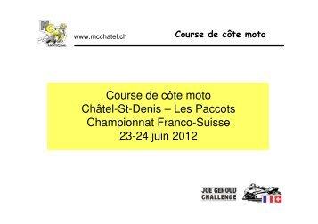Course de côte moto Châtel-St-Denis – Les Paccots ... - MC Châtel
