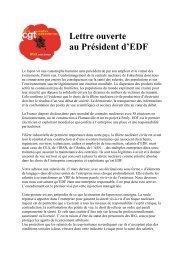 Lettre ouverte au Président d'EDF