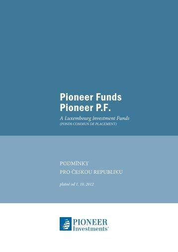 Podmínky pro ČR - Pioneer Investments