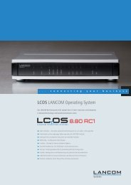 LCOS LANCOM Operating System - LANCOM Systems