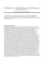 Høringsudkast om anv. af stoffer og materialer