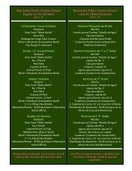 Manzanita Public Charter School Supply List for Scholars Manzanita ...
