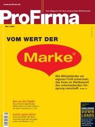 ProFirma 05/2008, Seite 26-27 - Institut für Markentechnik Genf