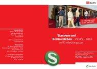 Wandern und Berlin erleben - S-Bahn Berlin GmbH