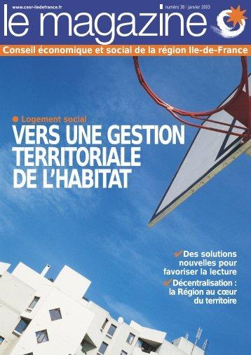 vers une gestion territoriale de l'habitat - CESER Ile-de-France