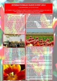 INTERNATIONALES RUDER EVENT 2013