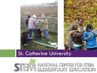 St. Catherine University - Institute for Earth Science Research and ...