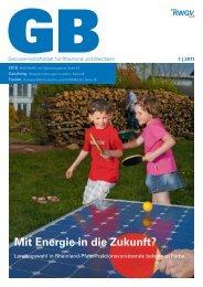 Genossenschaftsblatt 1/2011 zum Download (PDF) - RWGV