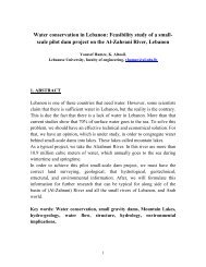 Water conservation in Lebanon: Feasibility study of a small-scale ...