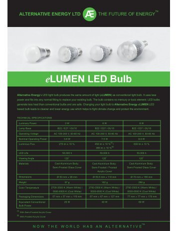 eLUMEN LED Bulb - Alternative Energy Distribution Limited