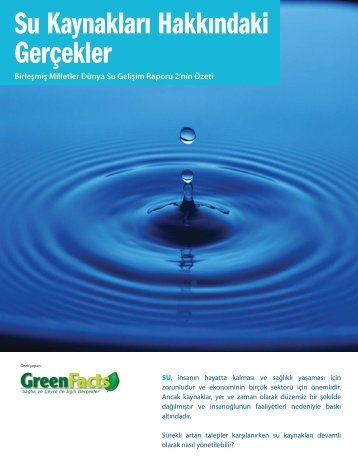 Su Kaynakları Hakkındaki Gerçekler - GreenFacts