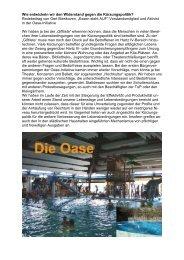 Bericht über die Aktionen - Alternative Kommunalpolitik