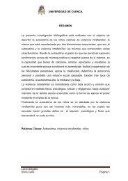 UNIVERSIDAD DE CUENCA Lucia Delgado Silvia Calle Página 1 ...