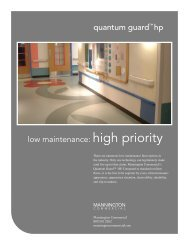 quantum guard™ hp low maintenance: high priority - Mannington
