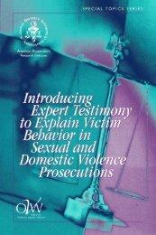 Introducing Expert Testimony to Explain Victim Behavior in