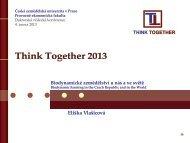 Biodynamické zemědělství u nás a ve světě - Think Together