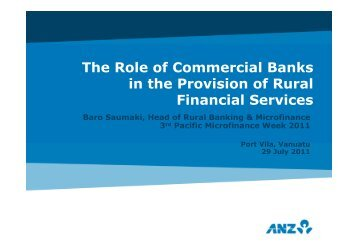 Impact of Rural Banking services in Fiji - Microfinance Pasifika