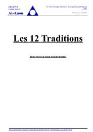 Les 12 Traditions - Base