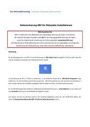 Datensicherung EBV für Mehrplatz Installationen