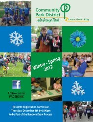 Winter • Spring 2012 - Community Park District La Grange Park