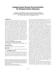 Leakage-aware energy synchronization for wireless sensor networks