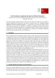 Conférence régionale du sport - CROS de Poitou-Charentes