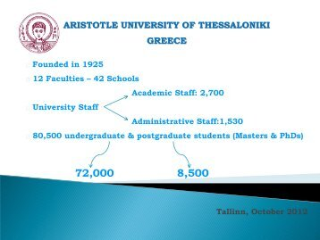 Aristotle University of Thessaloniki School of Modern ... - Archimedes