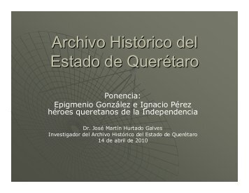 Ignacio Pérez - Archivo General de la Nación
