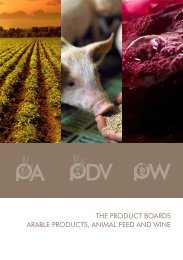 the product boards arable products, animal feed and wine