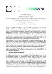 Framing als politischer Prozess - beim DPWV-Arbeitskreis