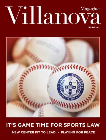 It'S Game tIme foR SPoRtS law - Villanova University