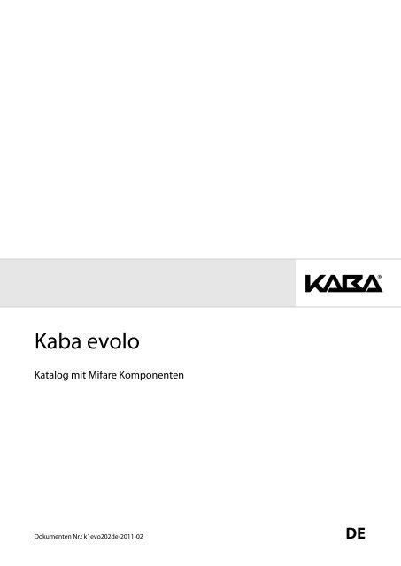 Bestellübersicht Kaba Evolo - Doppler, Basel