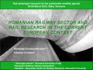 romanian railway sector and rail research in the current european ...