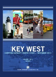 Key West Carrying Capacity Traffic Study ... - KeyWestCity.com