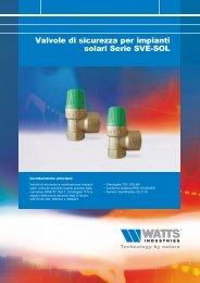 Valvole di sicurezza per impianti solari Serie SVE ... - Watts Industries