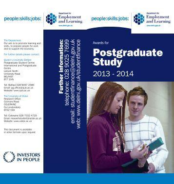 Postgraduate Study - Research - University of Ulster