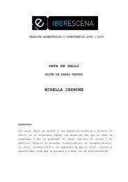 PATA DE GALLO - GUION DANZA TEATRO - Iberescena