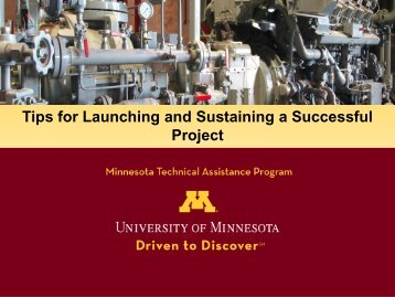 Tips for Launching and Sustaining a Successful Project
