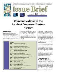Communications in the Incident Command System - SEARCH ...