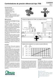 Controladores de presión diferencial tipo TDS ... - Clorius Controls