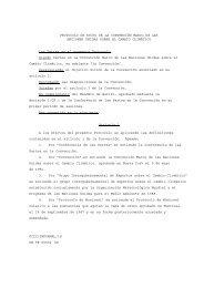 PROTOCOLO DE KYOTO DE LA CONVENCIÓN MARCO DE LAS ...