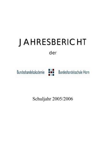 Jahresbericht 2005/06 - BHAK/BHAS Horn