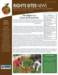 Right to a Clean Environment - Discover Human Rights