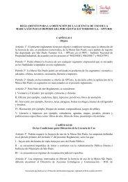reglamento para la obtención de la licencia de uso de la marca são ...