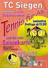 Hier: Flyer zum Download - TC Siegen eV