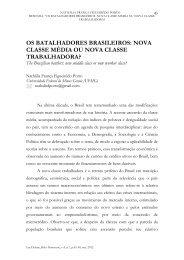 OS BATALHADORES BRASILEIROS: NOVA CLASSE ... - UFMG