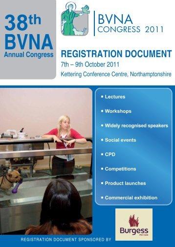 REGISTRATION DOCUMENT - British Veterinary Nursing Association