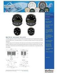 MATRIX GAUGES BLACK - Veethree Instruments